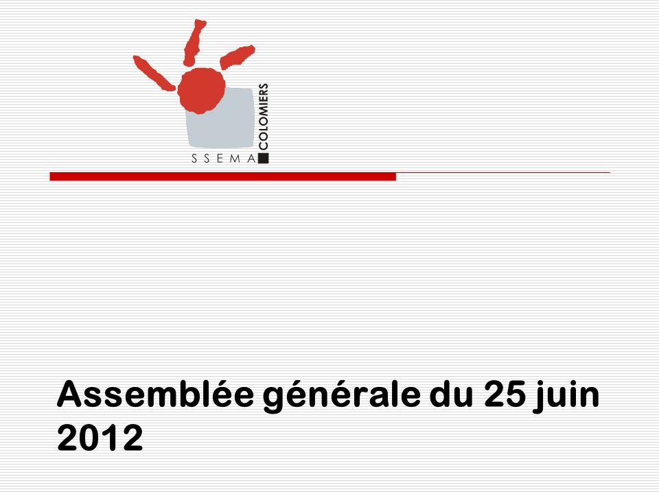 Assemblée générale du 25 juin 2012
