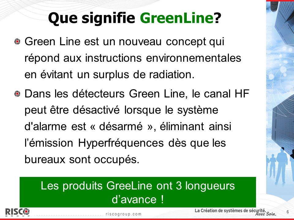 6 Que signifie GreenLine? Green Line est un nouveau concept qui répond aux instructions environnementales en évitant un surplus de radiation. Dans les
