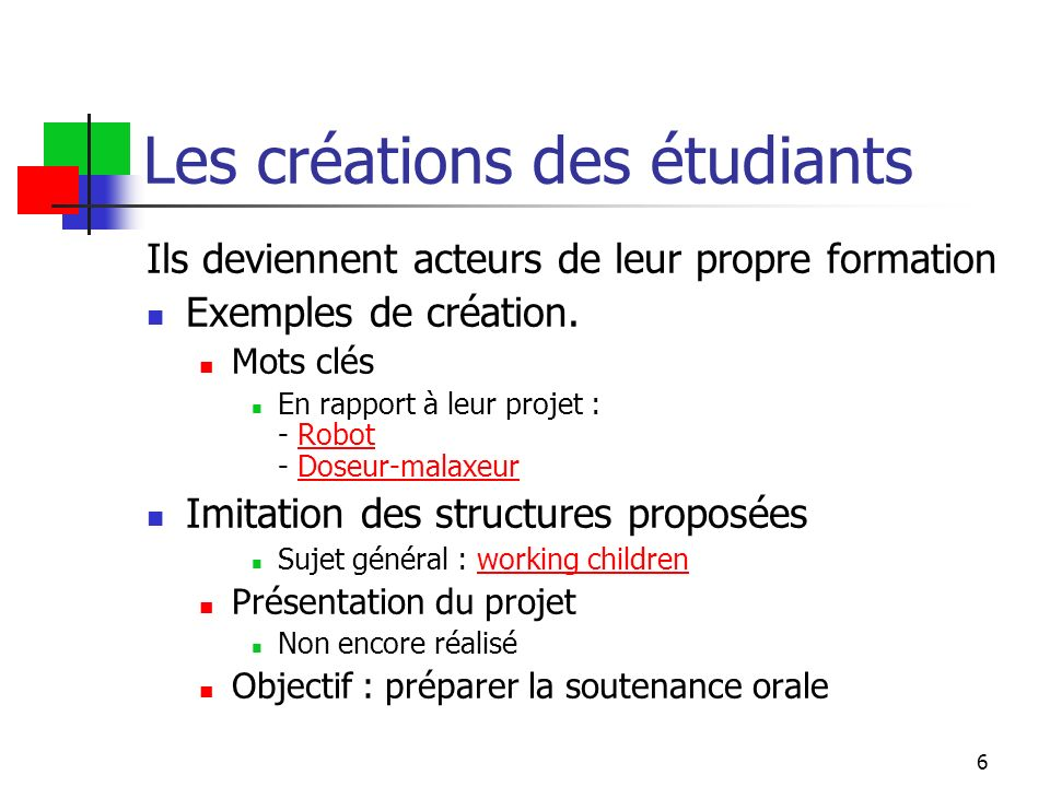 7 créations autres Thanks to Tom GRAINGER: Video Video + ScriptScript « Predictions »: script ( tps de création < 3 21 )script « Predictions »: step by stepstep by step « Predictions »: Fill in the blanksFill in the blanks « Predictions »: MCQMCQ