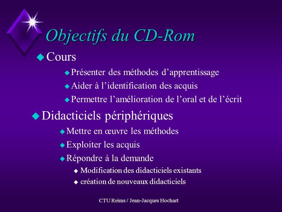 CTU Reims / Jean-Jacques Hochart Testez votre anglais sur le WEB www.univ-reims.fr/Ctu uWuWord stress (1) uWuWord stress (2) uWuWeak forms uAuA study of the verbal phrase uPuPassive uQuQuestion
