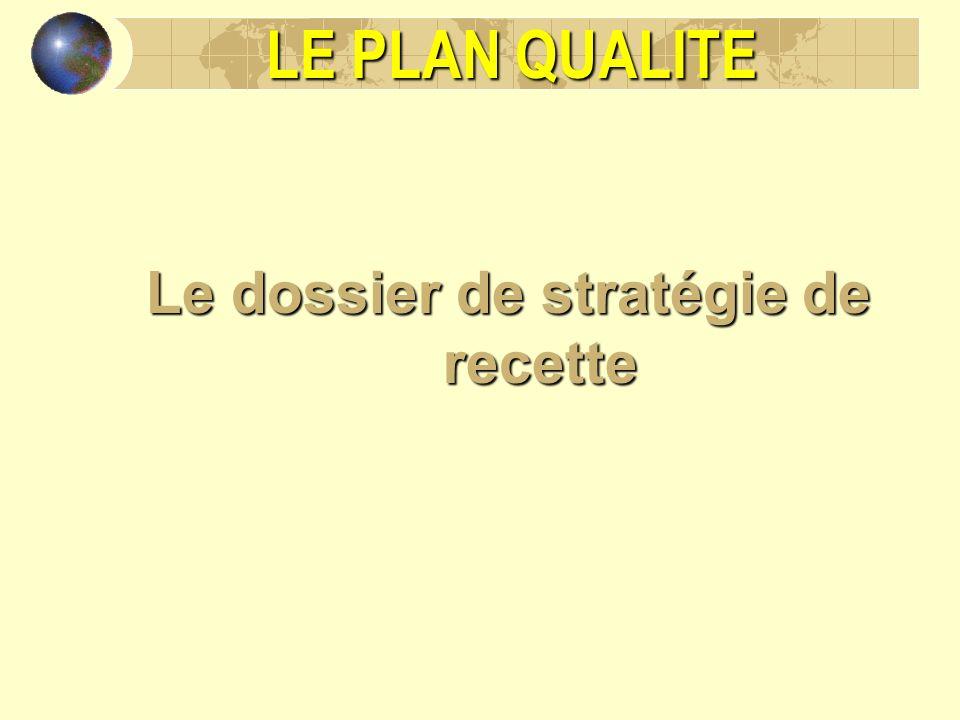 LE PLAN QUALITE Le dossier de stratégie de recette