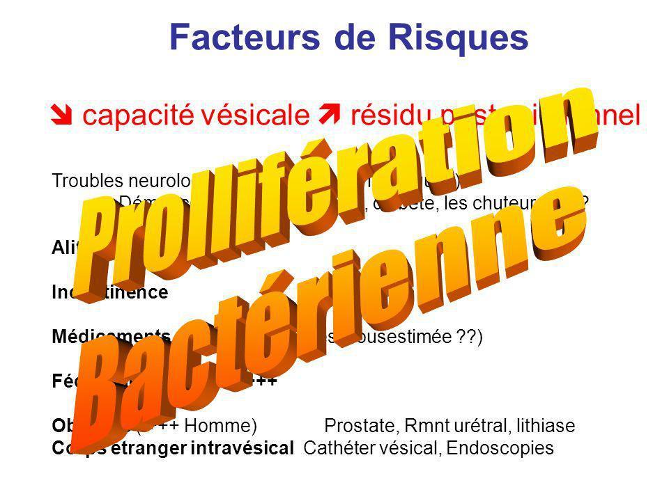 Troubles neurologiques (centraux, périohériques) Démence, AVC, neuropathies, diabète, les chuteurs ? ? ? Alitement, AVQ Incontinence Médicaments : ant