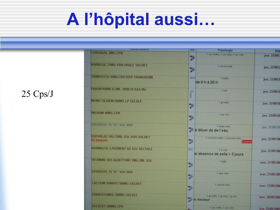 A lhôpital aussi… 25 Cps/J