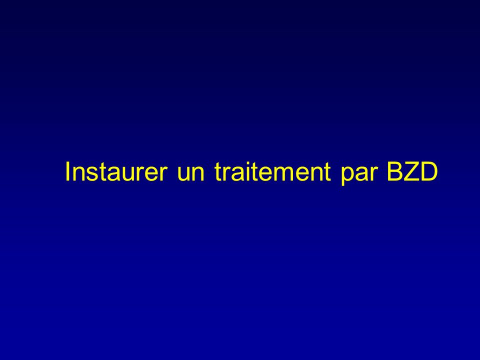 Les Benzodiazépines : aspects pharmacodynamiques Action anxiolytique Action sédative Action anticonvulsivante Action amnésiante Action myorelaxante