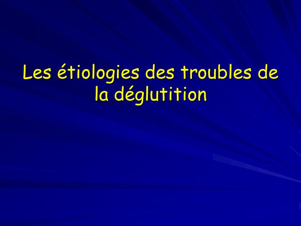 Les étiologies des troubles de la déglutition