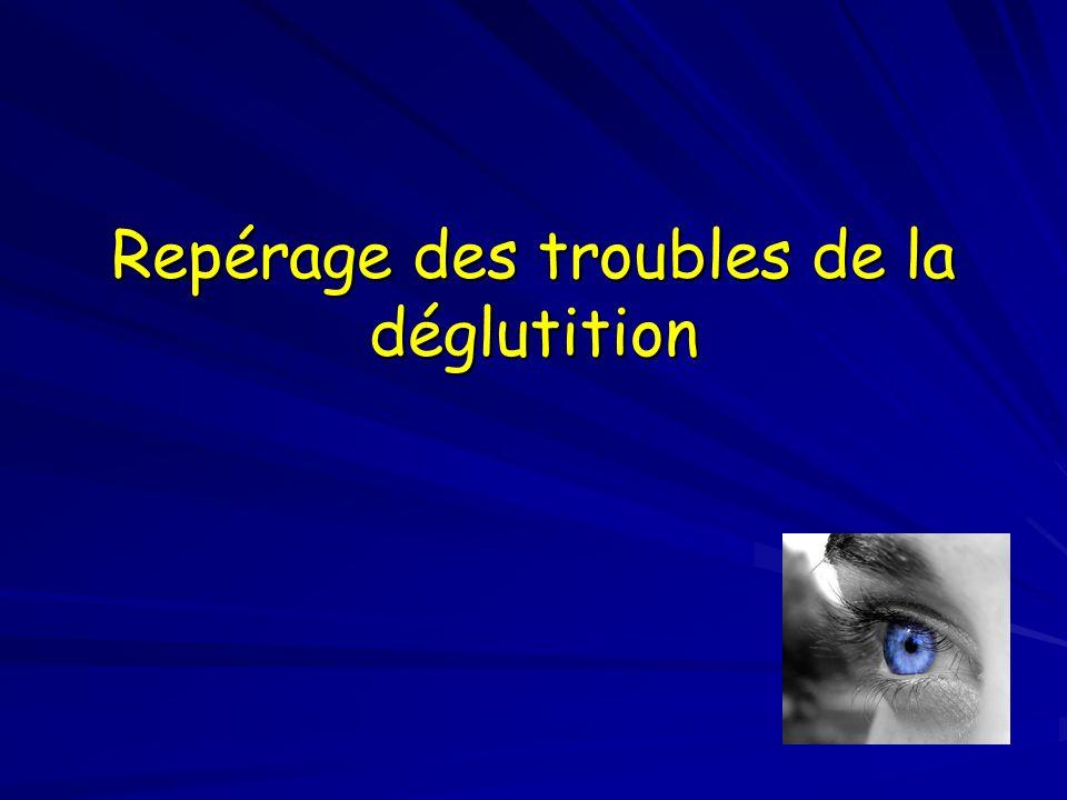Les troubles de la déglutition sont souvent variables Troubles variables dans le temps (jour et moment de la journée) selon la fatigue et la vigilance Troubles variables selon le positionnement du malade Troubles variables en intensité Aggravation fréquente avec lévolution de la maladie