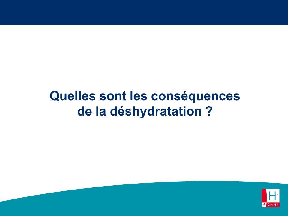 Quelles sont les conséquences de la déshydratation ?
