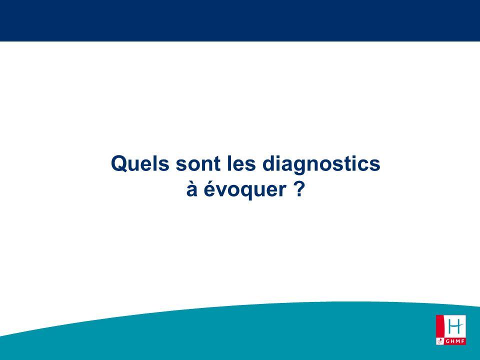 Quels sont les diagnostics à évoquer ?