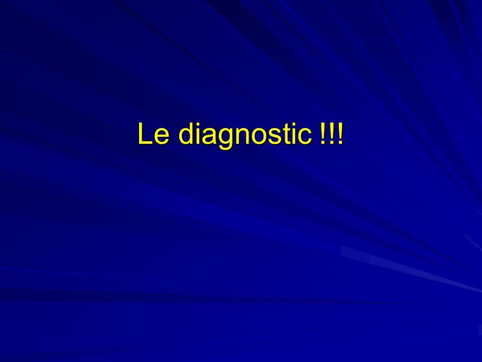 Le diagnostic !!!