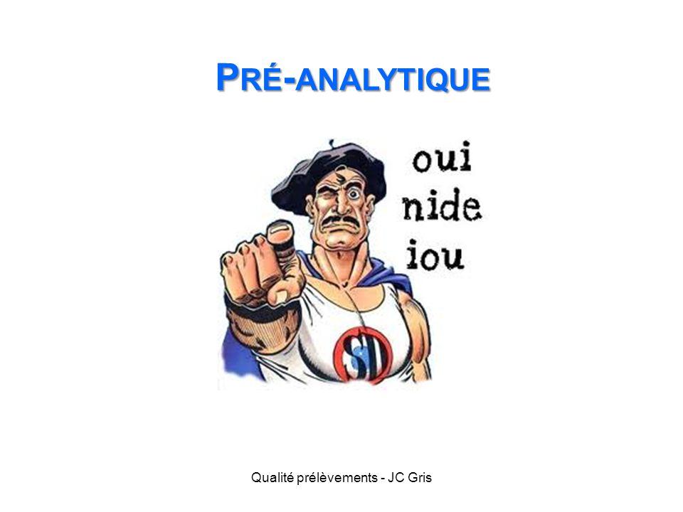 P RÉ - ANALYTIQUE