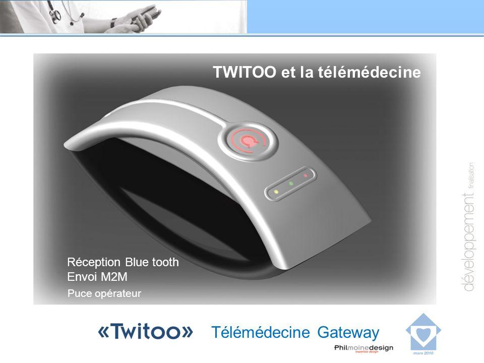 Télémédecine Gateway Réception Blue tooth Envoi M2M TWITOO et la télémédecine Puce opérateur