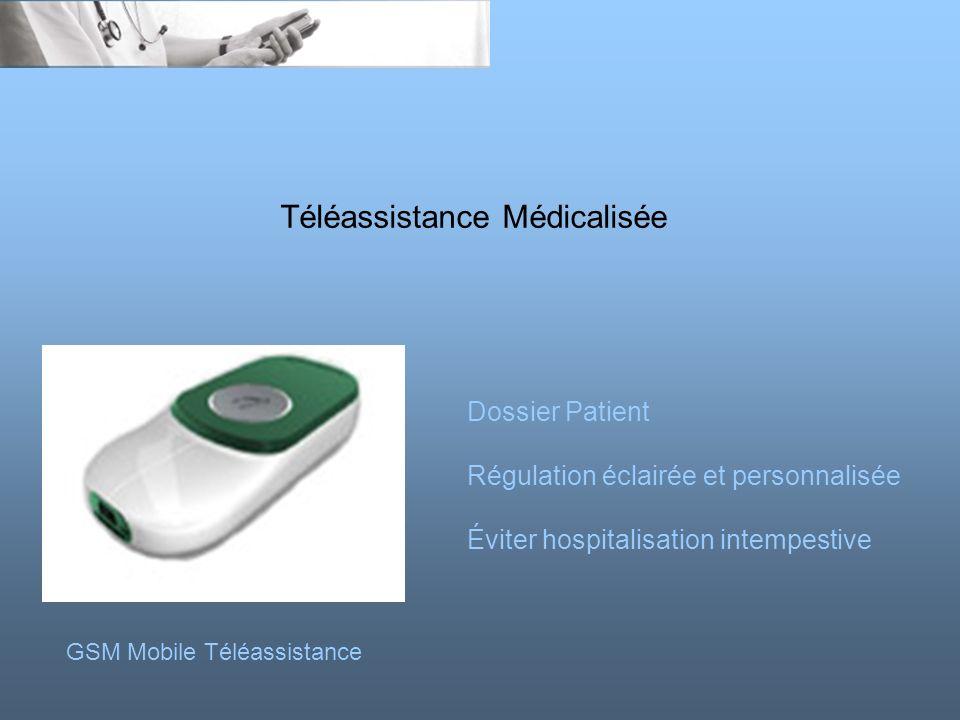 Téléassistance Médicalisée GSM Mobile Téléassistance Dossier Patient Régulation éclairée et personnalisée Éviter hospitalisation intempestive
