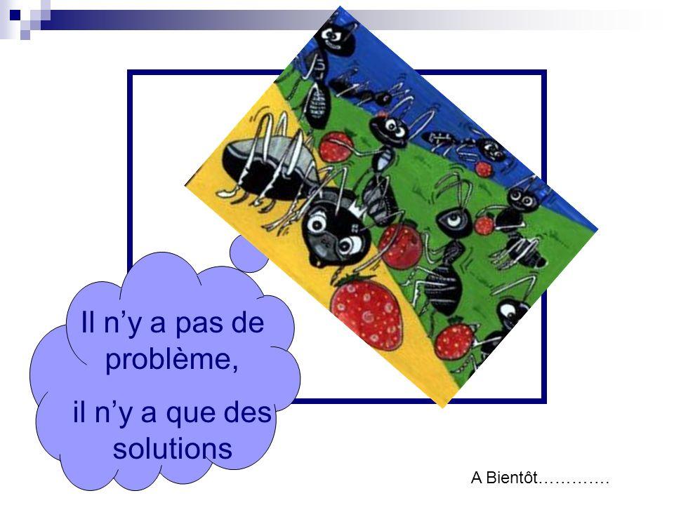 Il ny a pas de problème, il ny a que des solutions A Bientôt………….