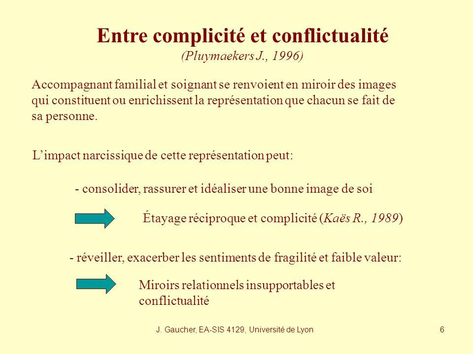 J. Gaucher, EA-SIS 4129, Université de Lyon 5 Lenfant désigné (Lorsquil sagit dun enfant) Celle (85%) ou celui (15%) qui est le plus présent. Fait pre