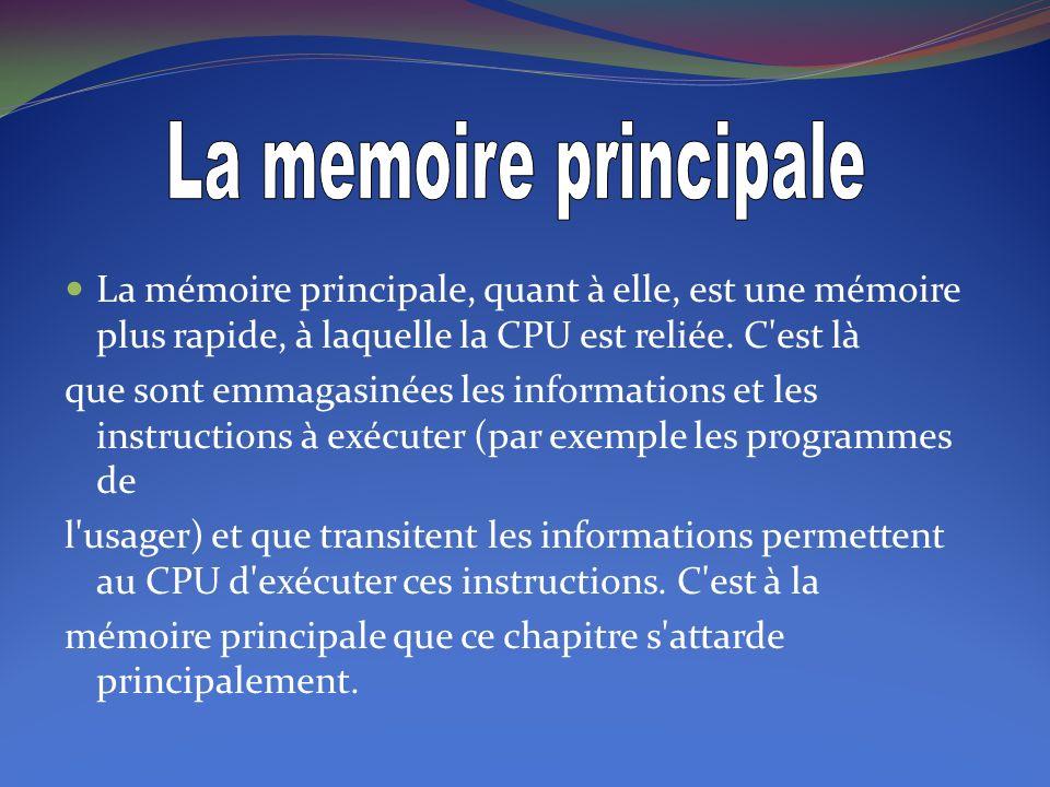 Essentiellement, le rôle de la mémoire est celui d emmagasiner de l information et de la restituer au besoin.