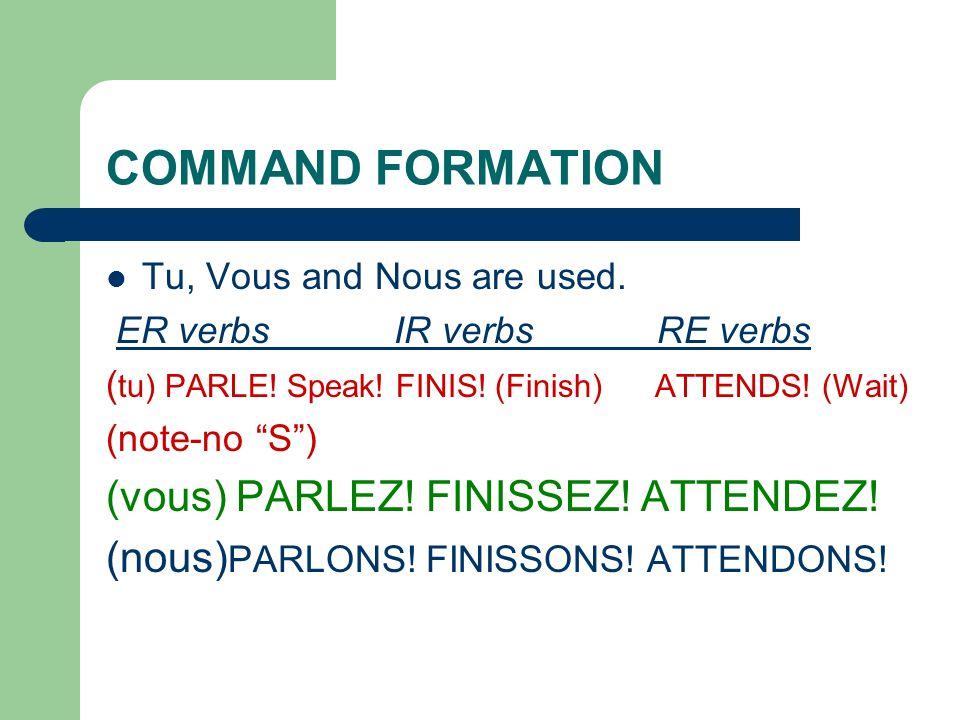 Time to practice! 1. Je ___________ mon vélo.(vendre) Translate: 2. Nous ____________ la prof. (entendre) Translate: 3. Ils ______________ le bus (att
