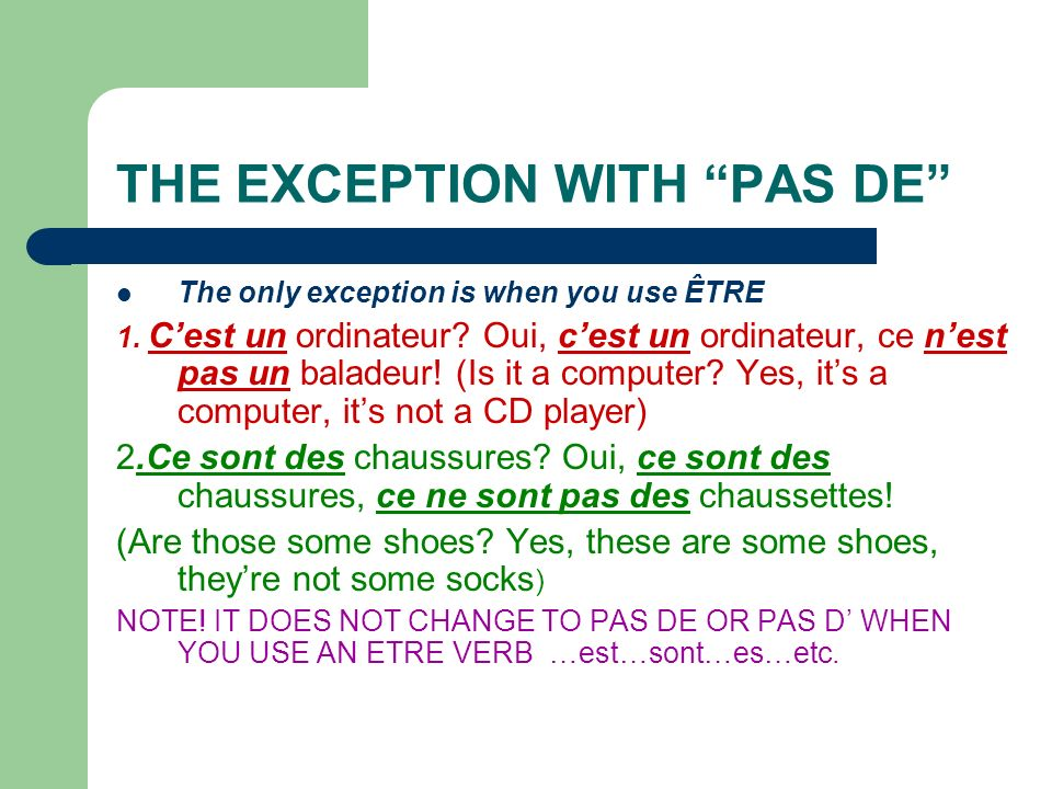 COMMAND FORMATION Tu, Vous and Nous are used.ER verbs IR verbs RE verbs ( tu) PARLE.