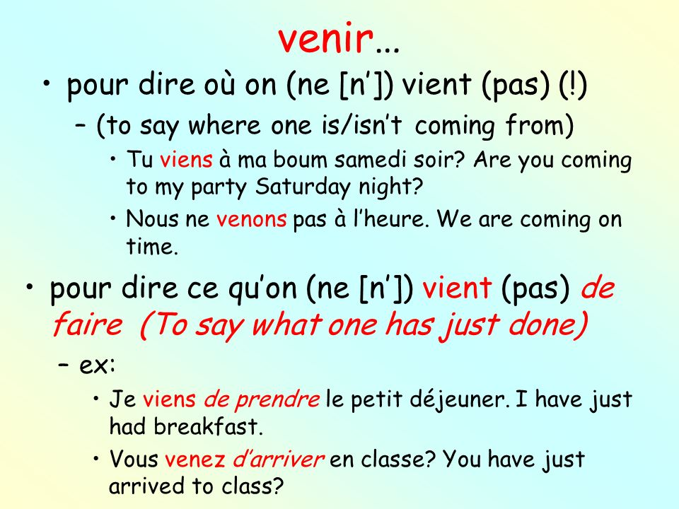 NEXT GROUP OF WEIRD VERBS-FRENCH 2.