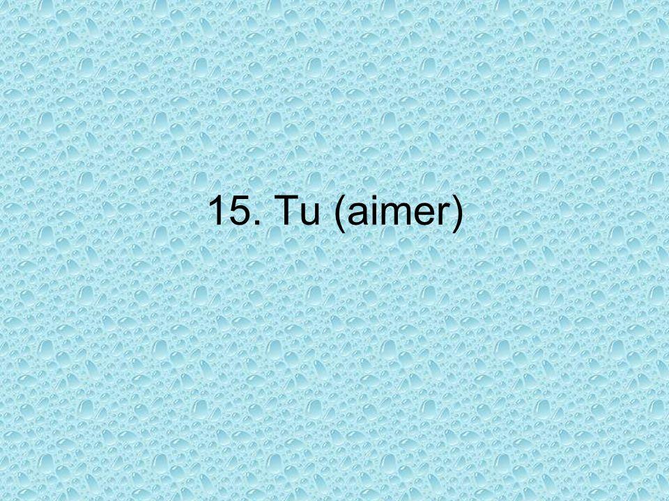 15. Tu (aimer)