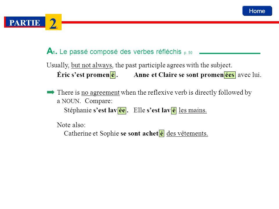 Home PARTIE 2 A 2.Lusage idiomatique des verbes réfléchis p.