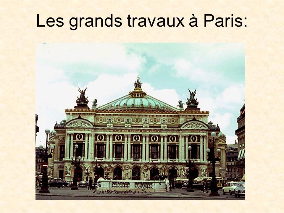 Les grands travaux à Paris: