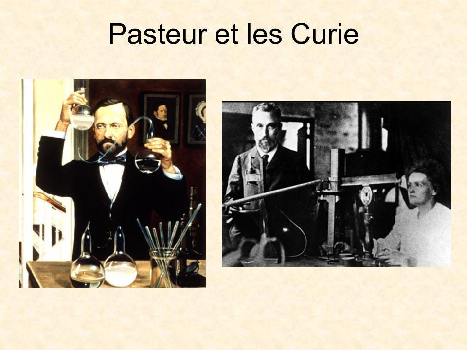 Pasteur et les Curie