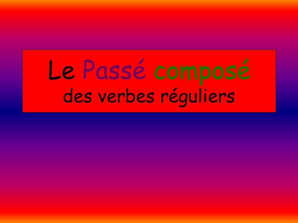 Pour exprimer une activité au passé, les Français utilisent… Sujet +(ne[n] avoir (pas) + au présent participe passé + … …er …é …ir …i …re …u participes passés irréguliers Jai attendu mes amis au café.