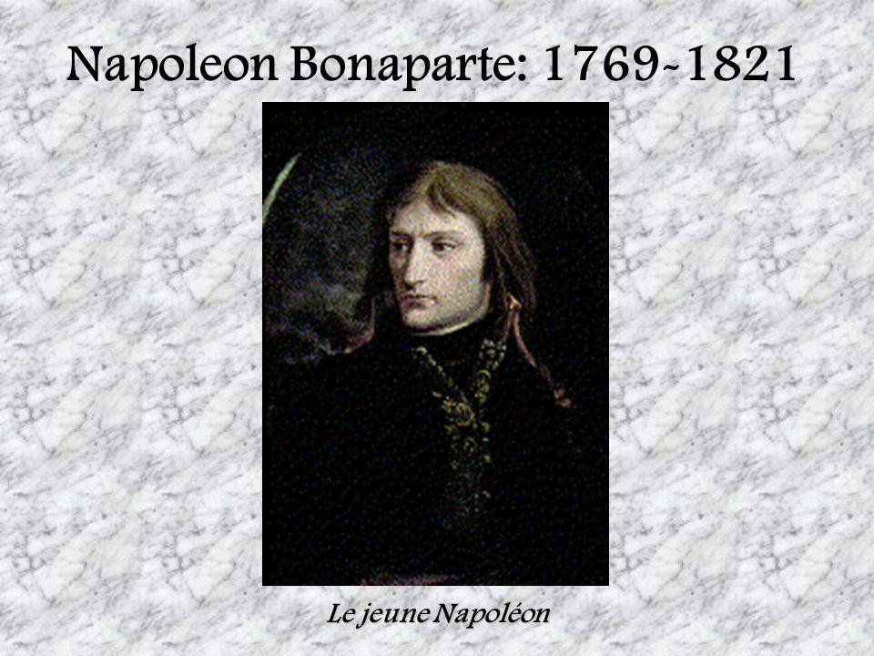 Le jeune Napoleon Bonaparte Les circonstances du passage de la Révolution à un retour vers la vie normale ont favorisé son ascension.