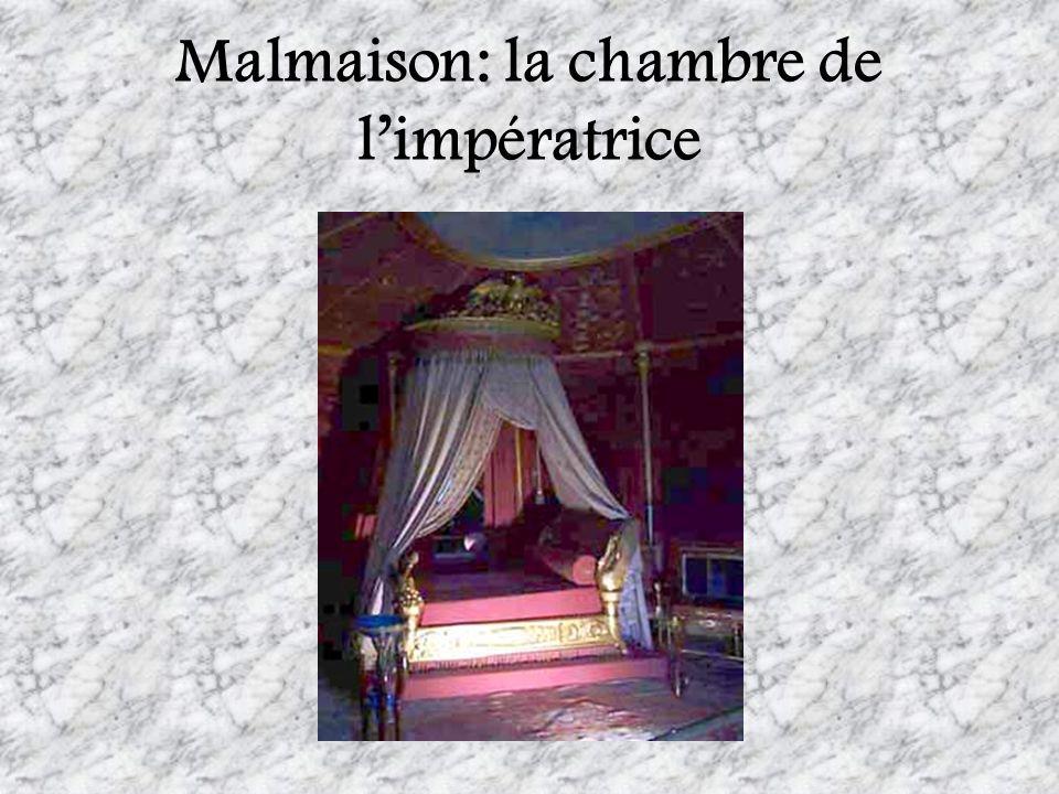 Malmaison: la chambre de limpératrice