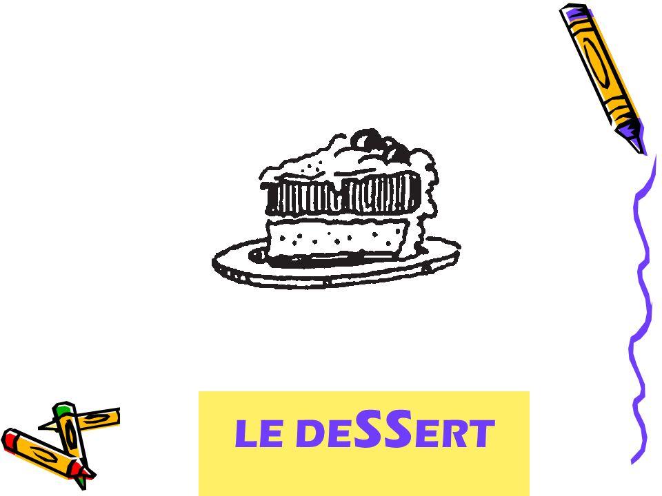 le repas ou le dessert? LE DE SS ERT