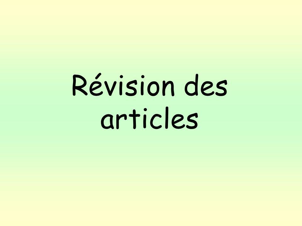 Révision des articles
