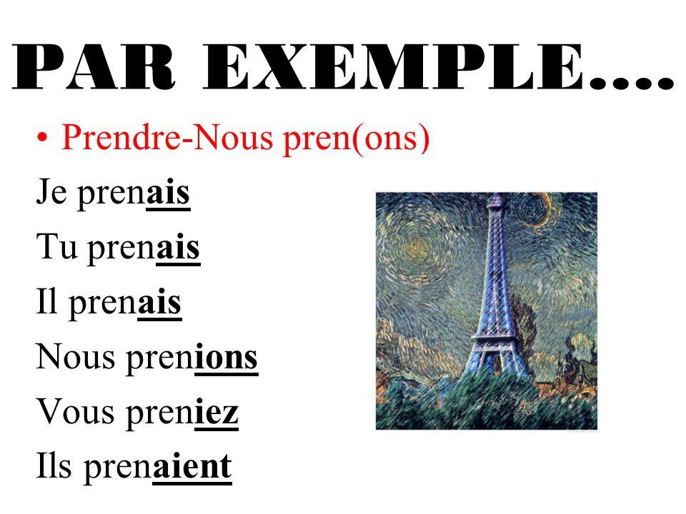 PAR EXEMPLE….
