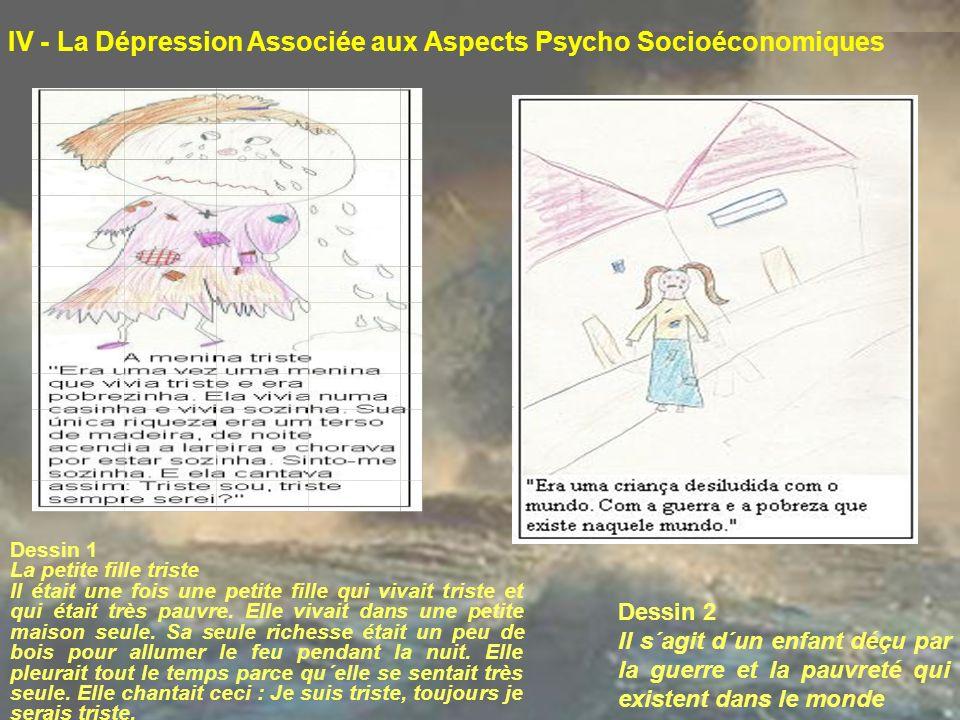 IV - La Dépression Associée aux Aspects Psycho Socioéconomiques Dessin 1 La petite fille triste Il était une fois une petite fille qui vivait triste e