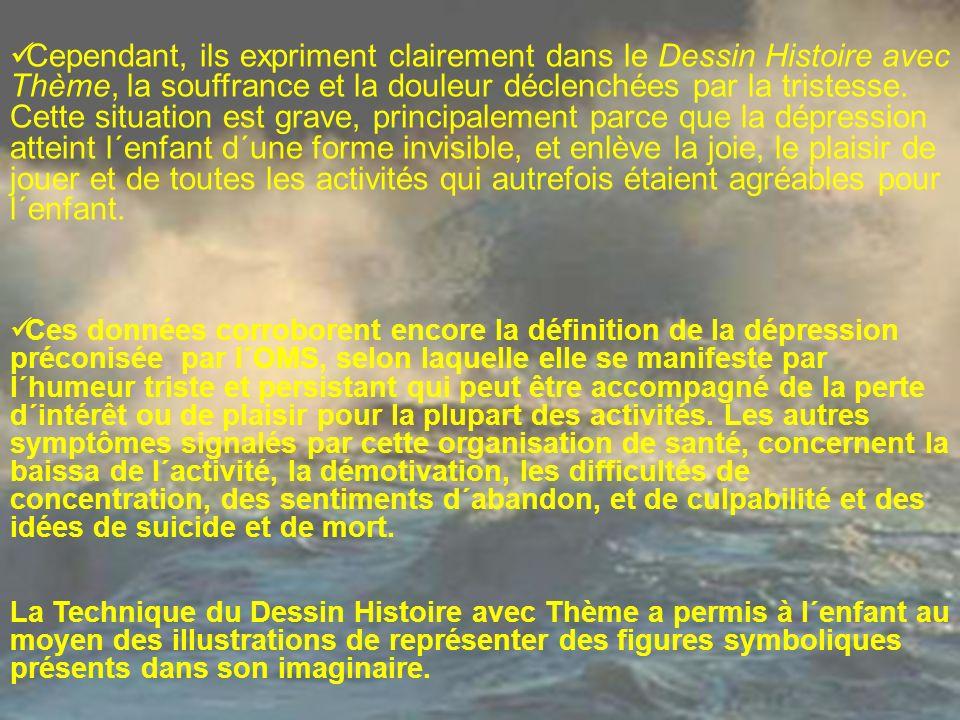Cependant, ils expriment clairement dans le Dessin Histoire avec Thème, la souffrance et la douleur déclenchées par la tristesse. Cette situation est
