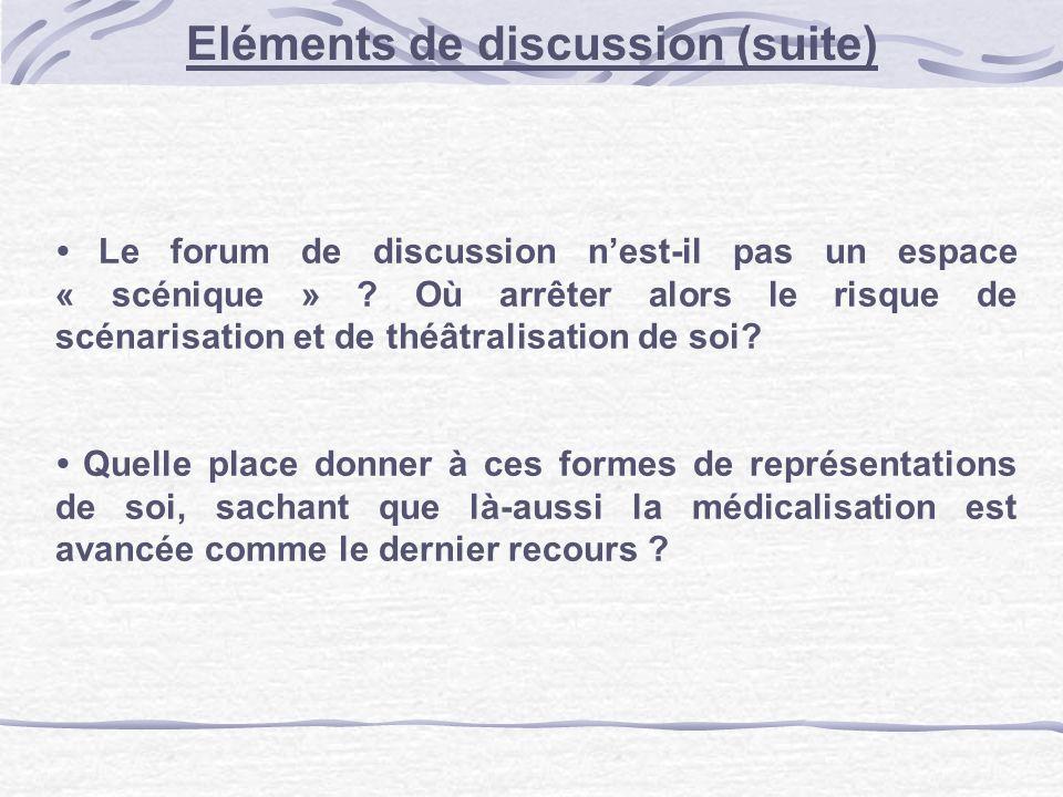 Le forum de discussion nest-il pas un espace « scénique » .