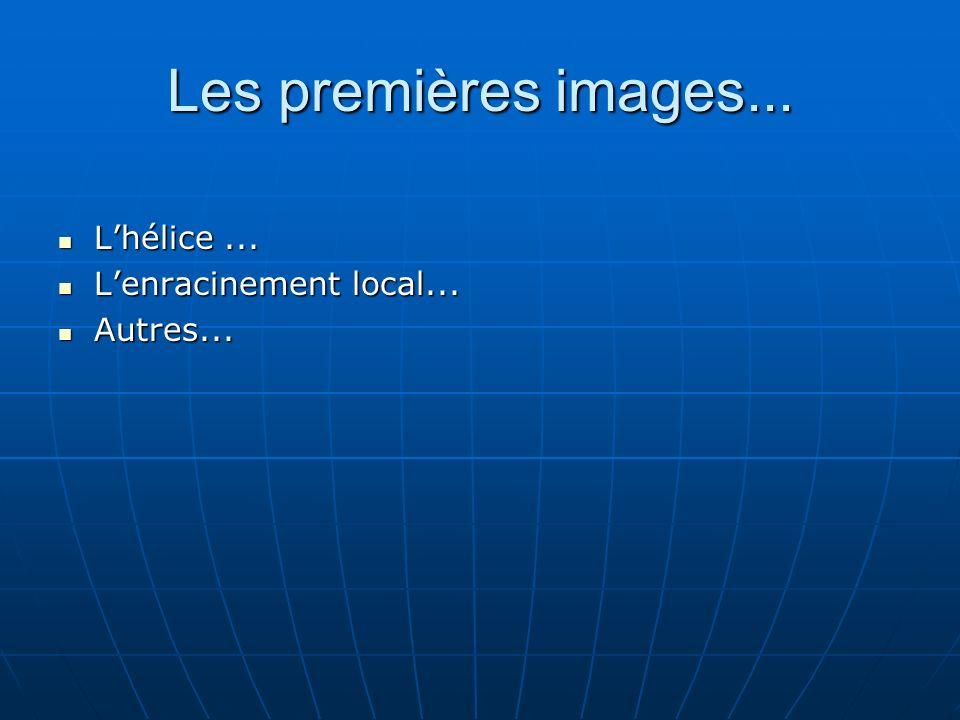 Les premières images... Lhélice... Lhélice... Lenracinement local...