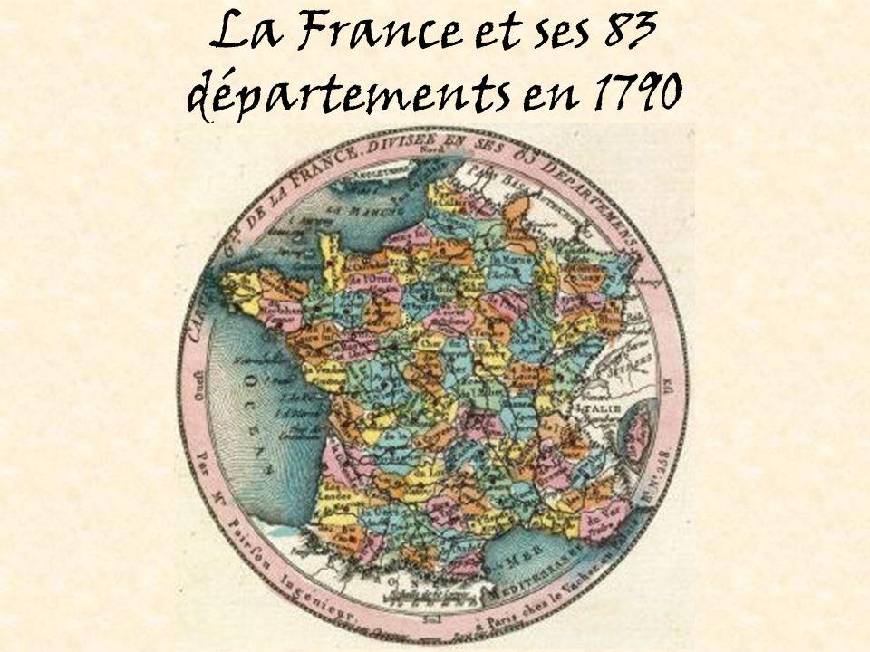 La France et ses 83 départements en 1790