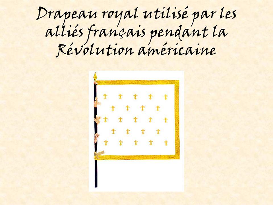 Drapeau royal utilisé par les alliés français pendant la Révolution américaine