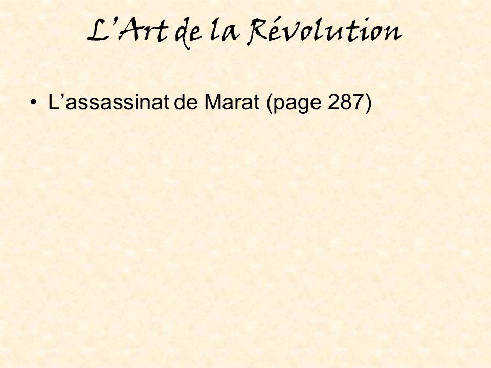 LArt de la Révolution Lassassinat de Marat (page 287)