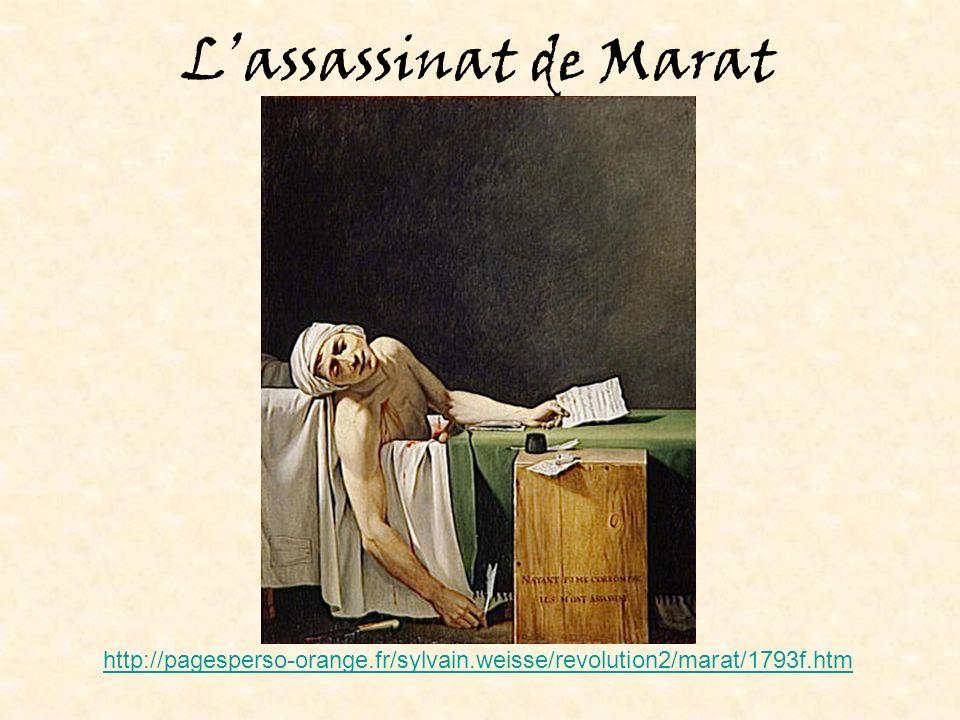 Lassassinat de Marat http://pagesperso-orange.fr/sylvain.weisse/revolution2/marat/1793f.htm