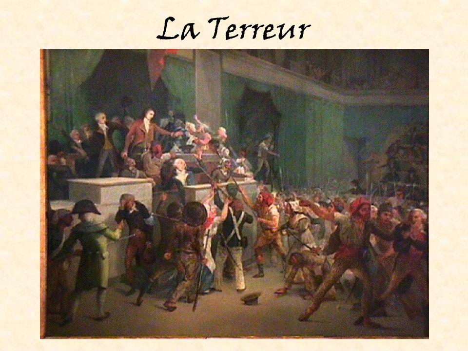 La fin de la Terreur Danton est mort sur la guillotine le 5 avril 1794.