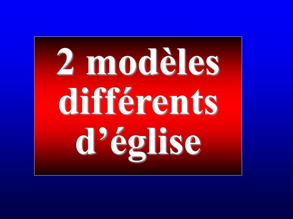 2 modèles différentsdéglise