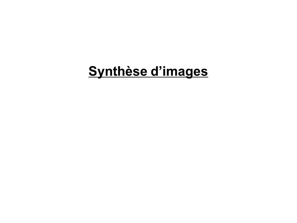 Synthèse dimages