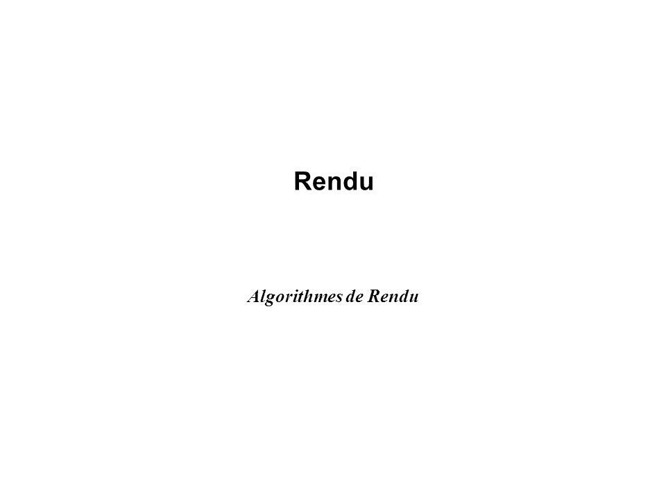 Rendu Algorithmes de Rendu