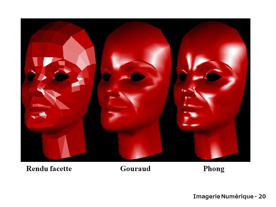 Imagerie Numérique - 20 Rendu facette Gouraud Phong