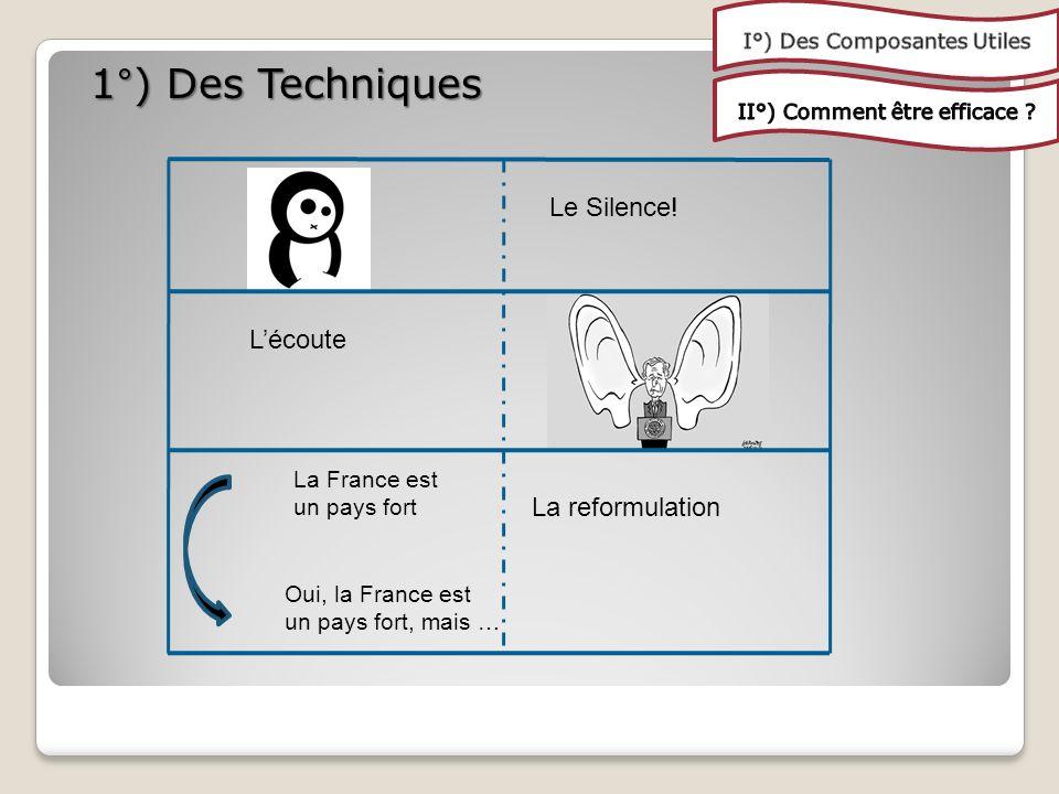 1°) Des Techniques Le Silence.