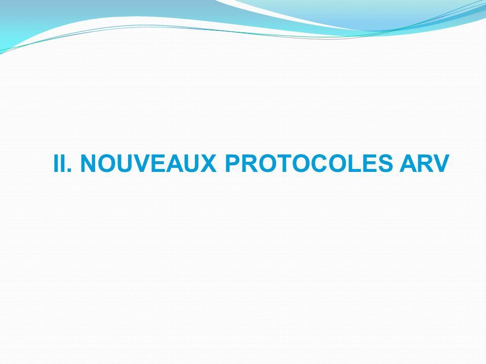 II. NOUVEAUX PROTOCOLES ARV