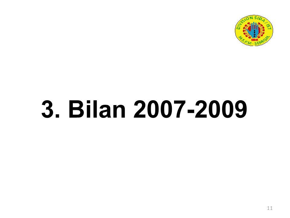 3. Bilan 2007-2009 11