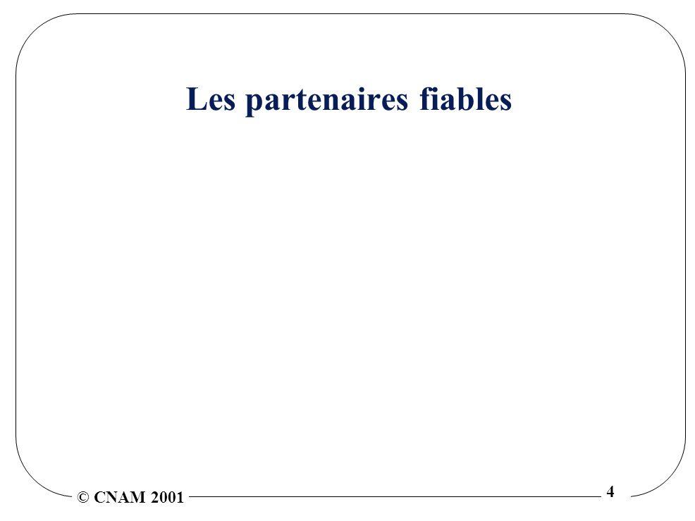 © CNAM 2001 4 Les partenaires fiables