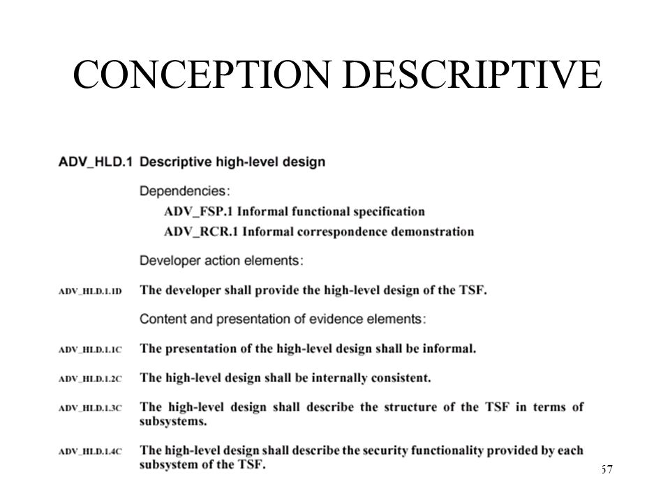 67 CONCEPTION DESCRIPTIVE